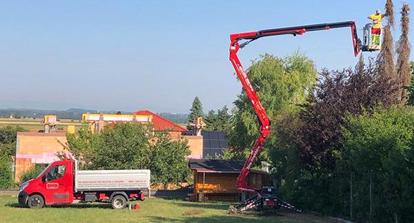 Vermietung Hebebühne der Kolb GmbH
